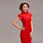 Red-lace-trailing-party-dress-Chinese-mandarin-collar-red-bridal-mermaid-wedding-dress-005