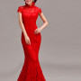 Red-lace-trailing-party-dress-Chinese-mandarin-collar-red-bridal-mermaid-wedding-dress-006